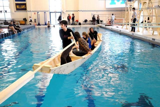 Douglas Brooks Boatbuilder Teaching Agano River Boat Middlebury College Winter Term 2016