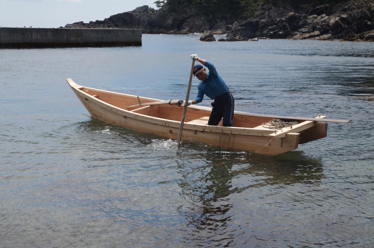 Douglas brooks boatbuilder japanese boats isobune for Japanese fishing boat